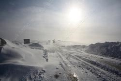 В Казахстане закрыли трассу в Саратовскую область из-за метели