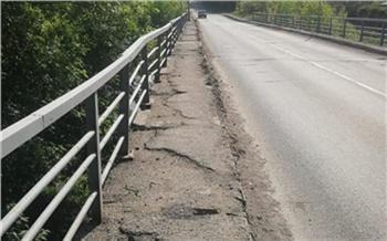 В Красноярске начали ремонтировать мост через Базаиху. На выходных там ограничат движение