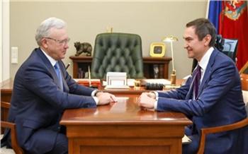 «Один из приоритетных для нас регионов»: Александр Ведяхин провел рабочую встречу с губернатором Красноярского края
