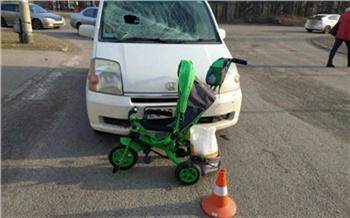 В Железногорске пенсионер сбил женщину с ребенком в коляске-велосипеде