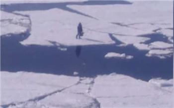 На севере Красноярского края полицейский спас пожилого рыбака с оторвавшейся льдины