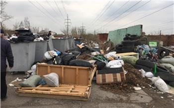 За праздничные выходные из Красноярска на полигон вывезли около 7 тысяч тонн отходов