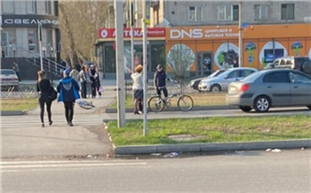 В Минусинске автоледи сбила на «зебре» велосипедиста-нарушителя и отправилась под арест на двое суток
