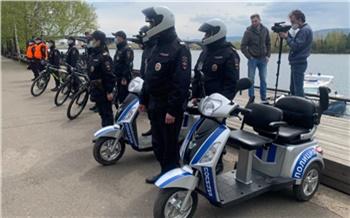 В Красноярске открыла сезон турполиция на велосипедах и электротрициклах