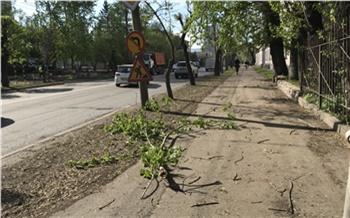 Ураган привел к разрушениям в Красноярске
