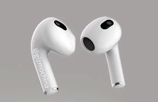 Опубликованы рендеры беспроводных наушников Apple AirPods 3