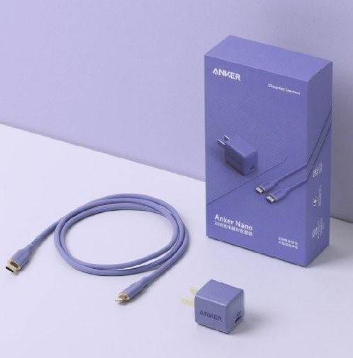 Представлено фиолетовое зарядное устройство Anker Nano для iPhone 12