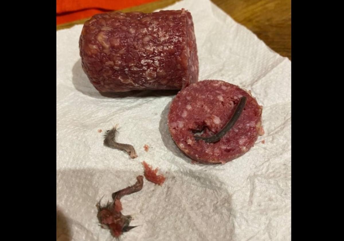 В Житомире мужчина нашел в колбасе хвост и лапы крысы