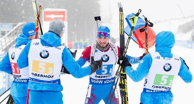 Мужская сборная России по биатлону стала четвертой в зачете Кубка наций