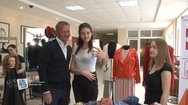Губернатор Роман Старовойт посетил курский политехнический колледж