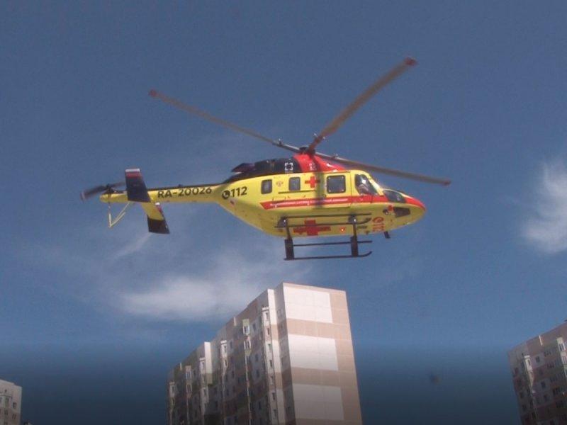 В Курской области вертолет санитарной авиации «Ансат» совершил первый вылет