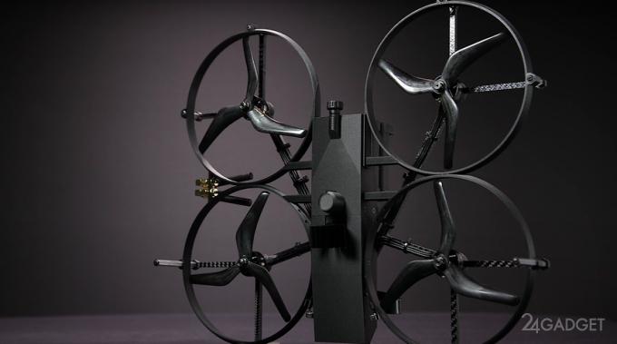 Американские полицейские дроны смогут самостоятельно разбивать стекла и открывать двери (2 видео)