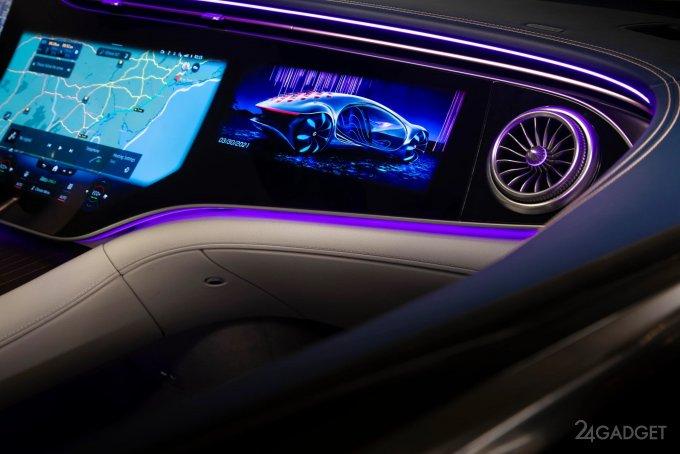 Опубликованы реальные фотографии электрического седана премиум-класса Mercedes-Benz EQS (6 фото)