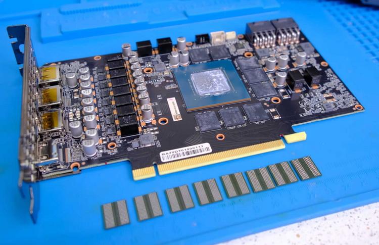 Энтузиаст увеличил у GeForce RTX 3070 объём видеопамяти до 16 Гбайт, и заставил её стабильно работать