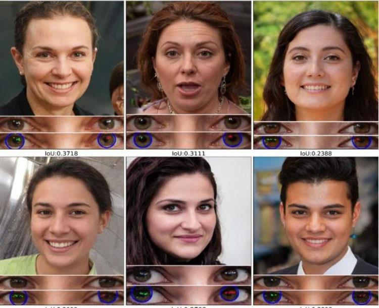 Deepfake можно распознать по неправильному отражению в глазах людей