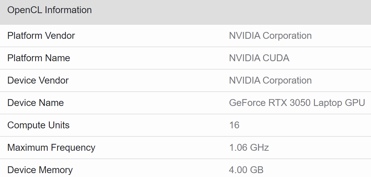 Мобильная версия GeForce RTX 3050 получит 2048 ядер CUDA и всего 4 Гбайт памяти
