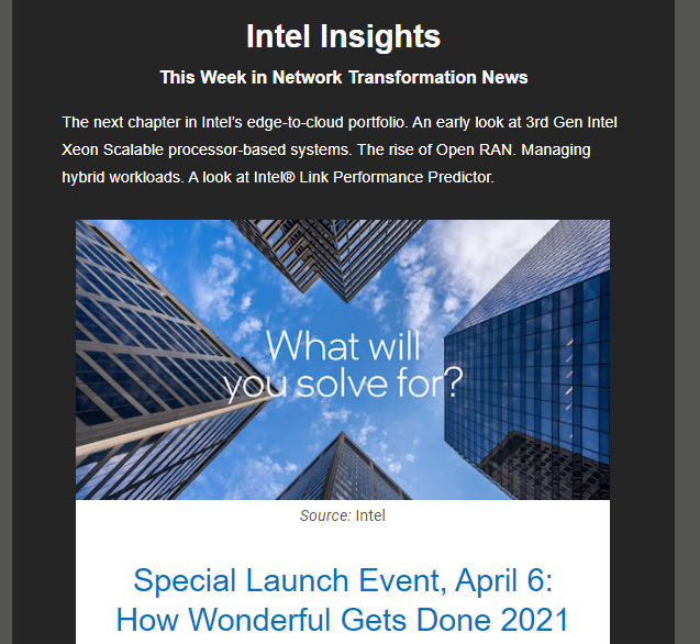 Intel продемонстрирует возможности процессоров Xeon семейства Ice Lake-SP шестого апреля