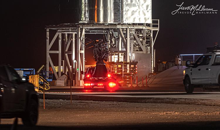 SpaceX заменит двигатель Starship SN11 перед повторным прожигом и запуском