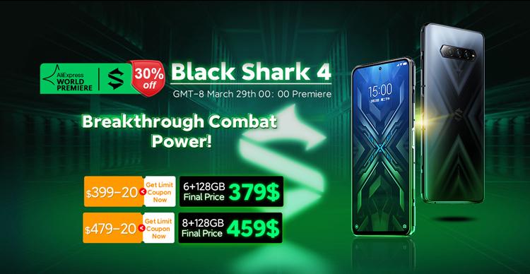 В честь старта продаж объявлены скидки на игровой смартфон Black Shark 4