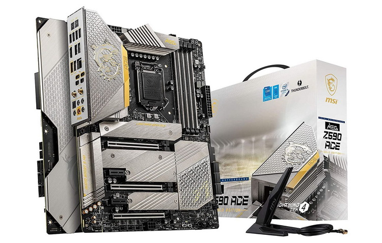 MSI выпустит материнскую плату MEG Z590 Ace Gold Edition с вычурным дизайном