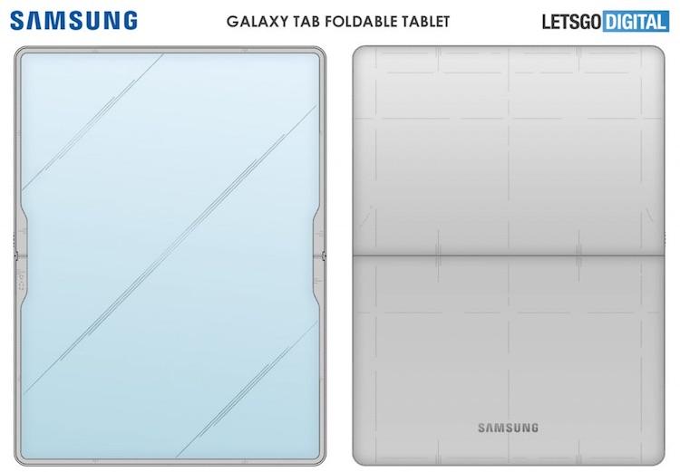 Samsung придумала складной планшет-книжку с гибким дисплеем
