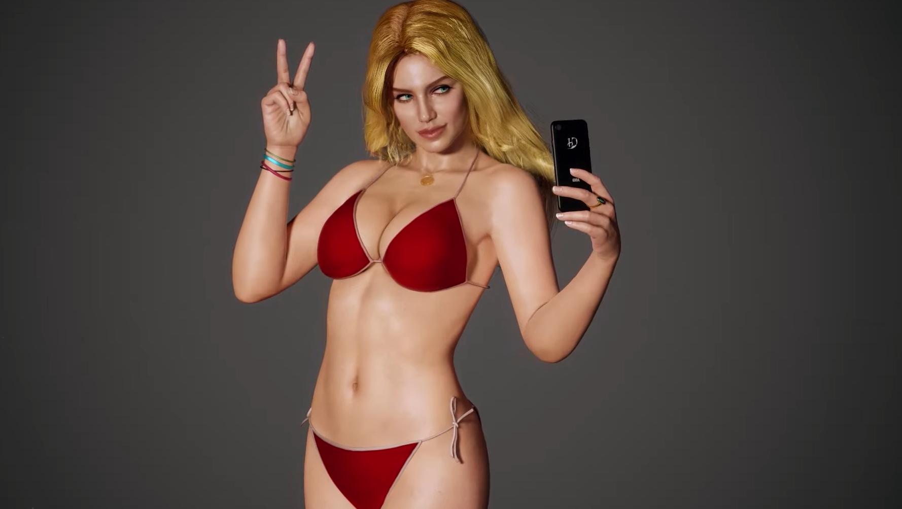 Видео: художник создал 3D-модель девушки в купальнике с обложки Grand Theft Auto V