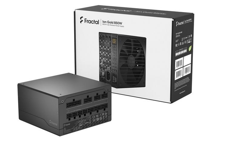 Fractal Design представила блоки питания Ion Gold мощностью до 850 Вт