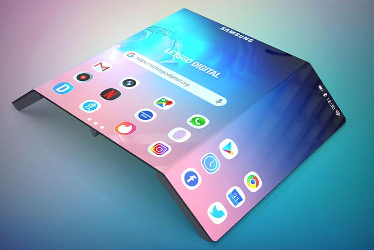 Samsung придумала два смартфона, которые могут сгибаться сразу в двух местах
