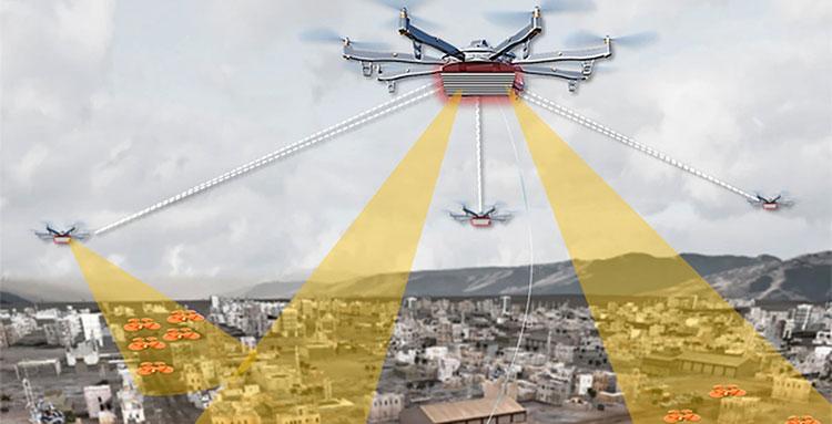 DARPA собирается развернуть в городах систему контроля за дронами с помощью особых беспилотников