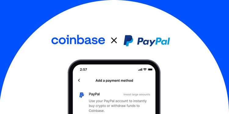 Coinbase добавила возможность покупки криптовалюты с аккаунта в PayPal