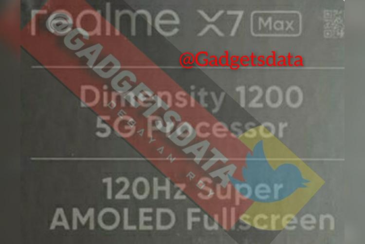 Realme отложила презентацию смартфона X7 Max 5G, но информация о нём просочилась в Сеть