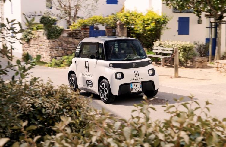 Citroen представила компактный электромобиль Mi Ami Cargo для доставки товаров