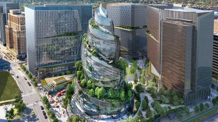 Amazon поделилась новыми изображениями своей будущей второй штаб-квартиры