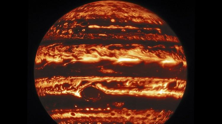 Американские учёные опубликовали поразительные снимки атмосферы Юпитера