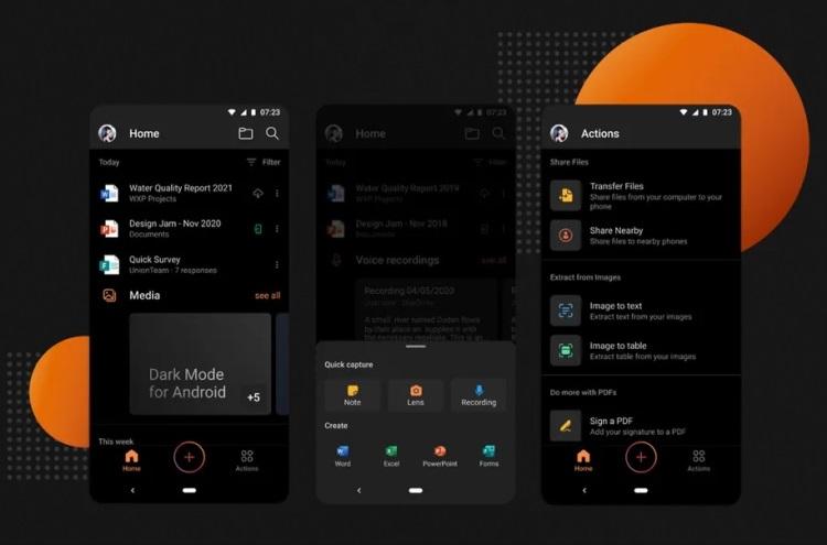 В приложении Microsoft Office для Android появилась поддержка тёмного режима