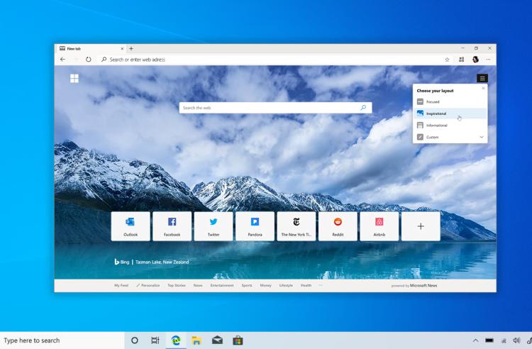 Баг или фича? Новая версия браузера Edge настойчиво предлагает использовать поисковик Bing