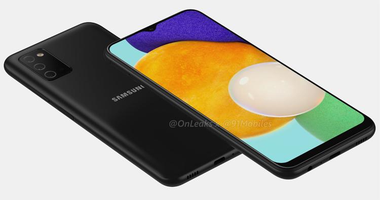 Смартфон Samsung Galaxy A03s показался на рендерах с тройной камерой