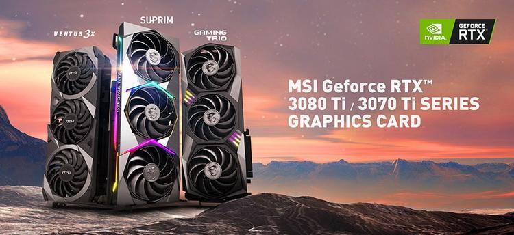 MSI представила GeForce RTX 3080 Ti и GeForce RTX 3070 Ti в исполнениях Suprim, Gaming и Ventus