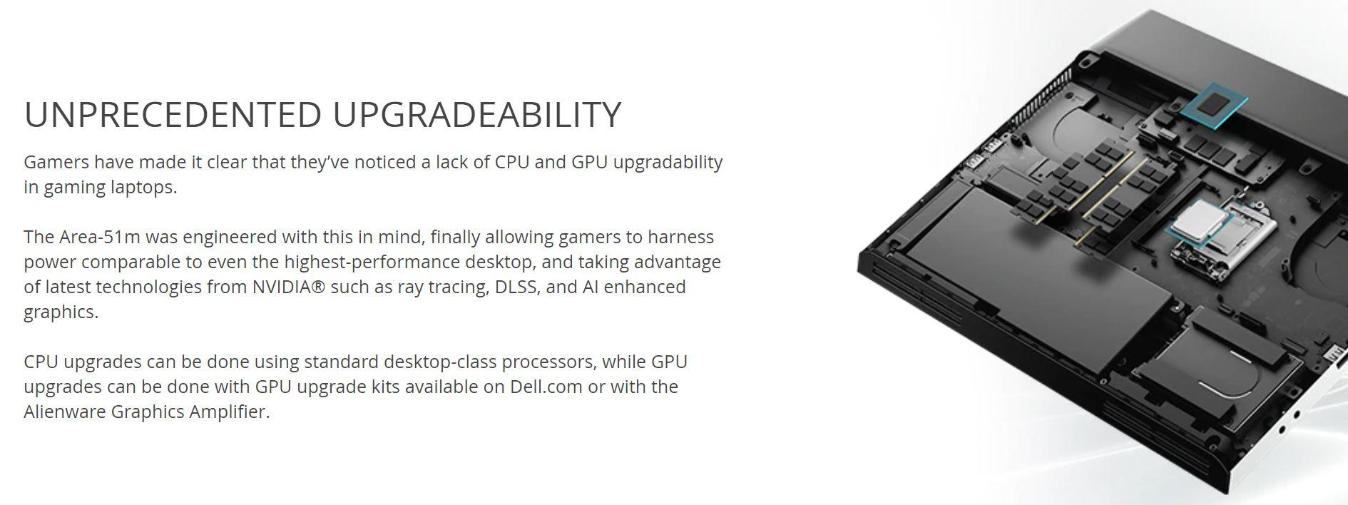 На Dell подали в суд за ложные заявления о возможности апгрейда CPU игрового ноутбука Alienware Area-51m