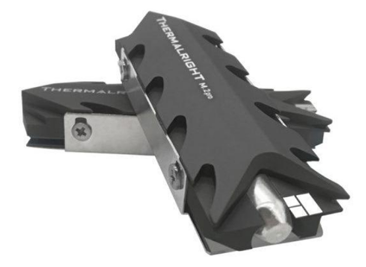 Thermalright выпустила охладитель для SSD со странным радиатором и толстой тепловой трубкой