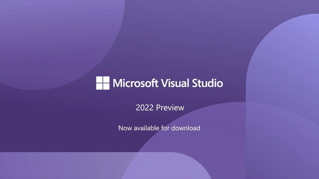 Выпущена первая предварительная версия Visual Studio 2022