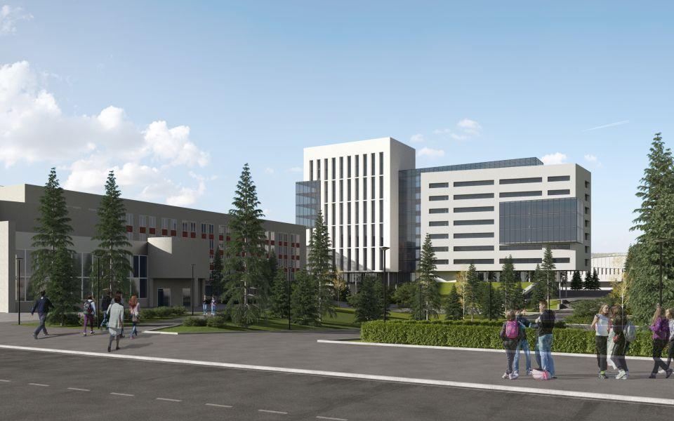 Корпус АлтГУ на площади Сахарова построят по проекту Александра Деринга
