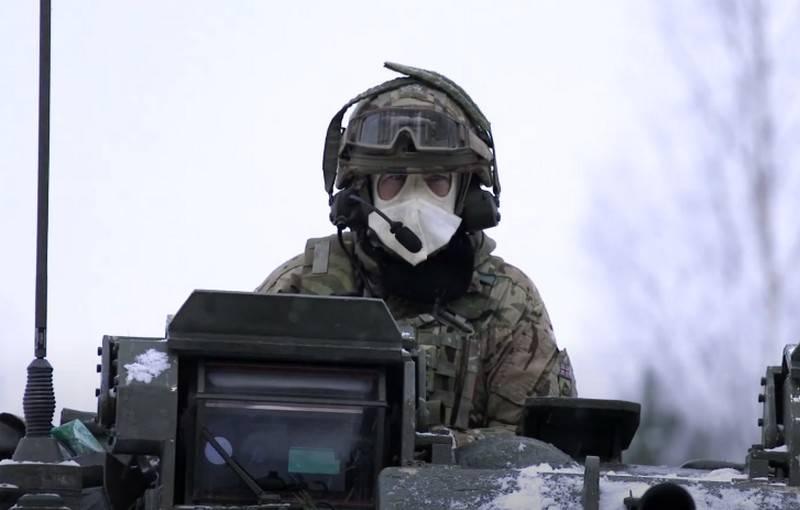 Британские военнослужащие провели учения в условиях суровой эстонской зимы
