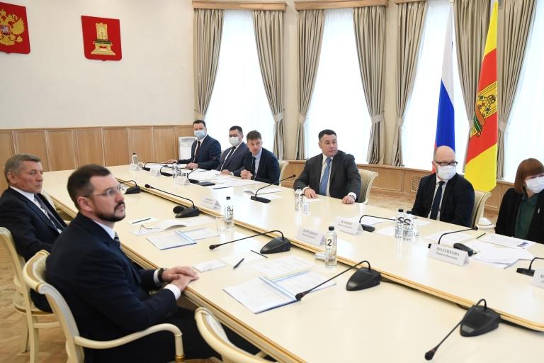 Губернатор Тверской области обсудил новые инвестиционные проекты с главой «АгроПромкомплектации»
