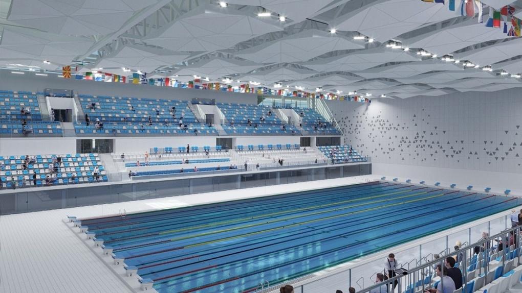 «Синара-Девелопмент» представила интерьеры Дворца водных видов спорта