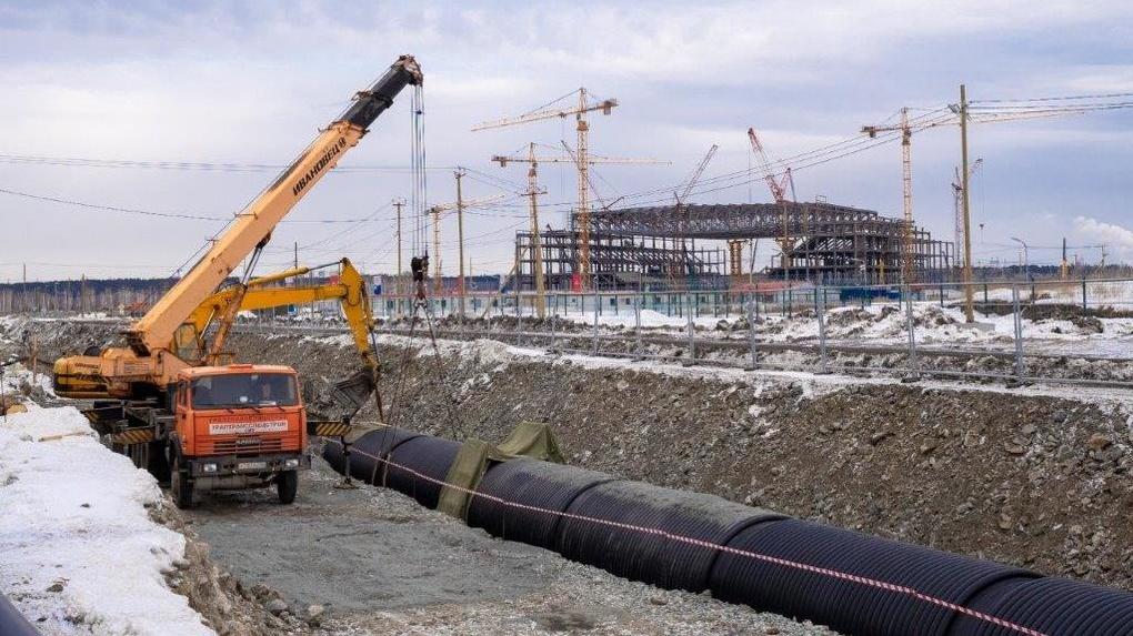 «Синара-Девелопмент» начала строительство водоотводного канала в Деревне Универсиады в Екатеринбурге