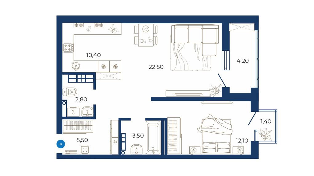 Увидеть будущую квартиру — и полюбить. Проект евродвушки в тихом центре в реалистичных картинках