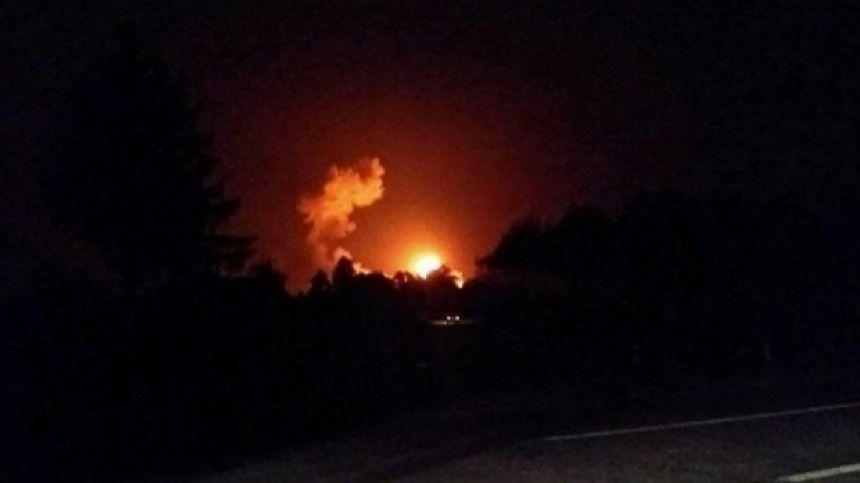 Жители Дагестана сняли на видео взрывы в районе склада в Буйнакске