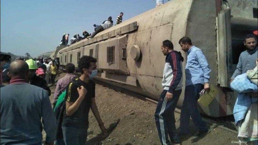В Египте поезд сошел с рельсов, есть погибшие и раненые