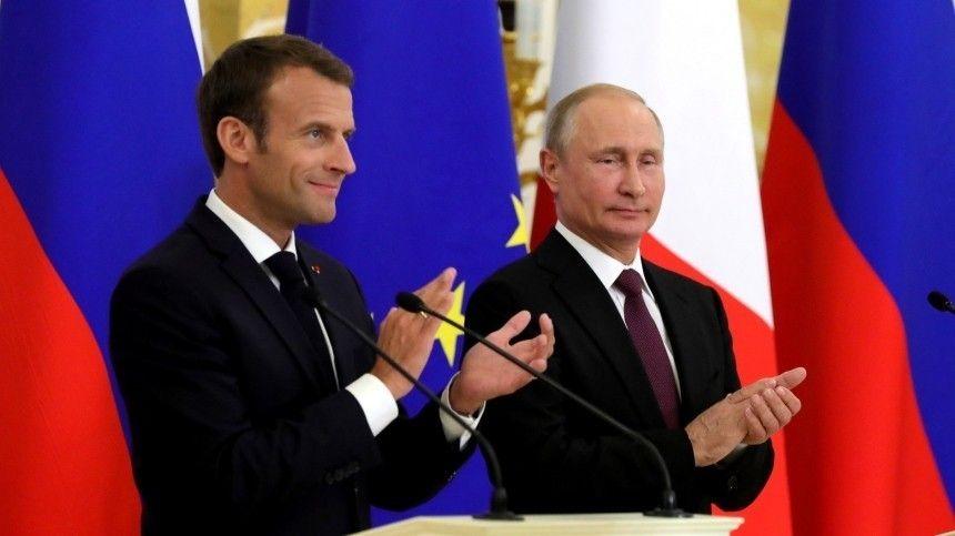 Путин и Макрон подтвердили взаимодействие в рамках «нормандского формата»